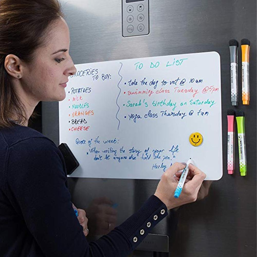 Магнитная доска для холодильника A5, A4, A3, сухая салфетка, Стикеры для холодильника, стираемая доска для записей и сообщений, доска для письма,...