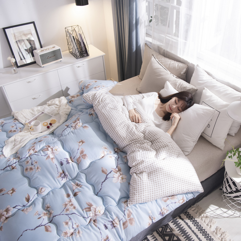Luxury Printed Winter Blanket Quilt New Design Thick Warm Quilts Patchwork Bedding Comforter Home Duvet Twin/queen/king Size