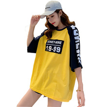 #2112 Woman Loose Tshirt O-neck Cotton Tee Shirts Female Streetwear Plus Size T Shirt Femme Hip Hop Ladies Big Tees