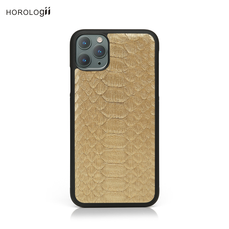 2019 Hiram Beron Golden Color օձ Բջջային հեռախոս Iphone 11 Pro Max Case 8 plus Xs max dropship