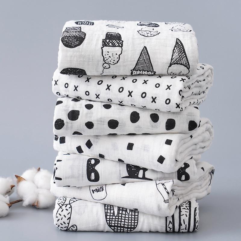 Imebaby Baby Blanket Bath Towel 120 * 110cm Cotton Muslin Newborn Sw Blanket, Bath Towel, Wrapped Blanket Child Bedding Blanket