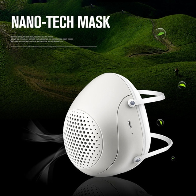 Half Face Smart Electric Masks Anti-Bacterial Haze Flu Dust-Proof Breathable,N95 Level Protective Masks 3