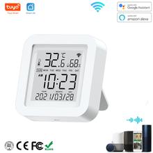 Tuya WIFI Sensor de temperatura y humedad para casa inteligente var SmartLife con Control remoto con pantalla Asistente de Google Alexa