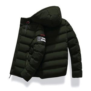 Image 5 - 2019 브랜드 패션 가을 겨울 자켓 파카 남성 여성 코트 후드 웜 남성 겨울 코트 캐주얼 피트 오버 코트 4xl 파커 남성