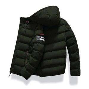 Image 5 - 2019 marke Mode Herbst Winter Jacke Parka Männer Frauen Mantel Mit Kapuze Warm Herren Winter Mantel Casual Fit Mantel 4XL Parkas männlichen