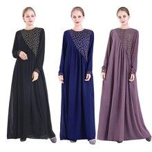 Robe Ramadan-Dresses Duba Abaya Kaftan Turkey Islamic-Clothing Women for Vestidos Sukienki