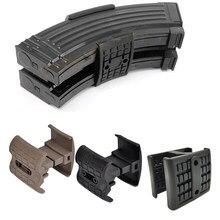 Silah tüfek şarj dergisi Mag bağlayıcı klip Mag-Link konektörü AK 47 74 MP5 AR 15 M4A1 5.56MM Airsoft avcılık aksesuarları