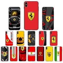 YNDFCNB роскошный автомобильный чехол для телефона Ferrari для iphone 11 Pro Max X XS MAX 6 6s 7 8 Plus 5 5S 5SE XR SE2020
