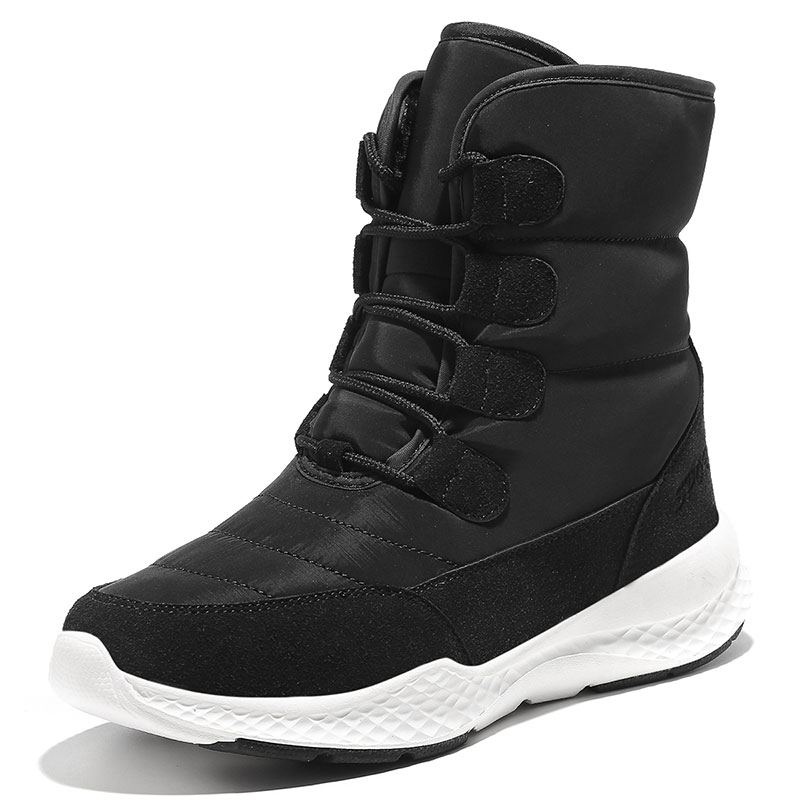 Jzzddown Winter Snow Boots Shoes Woman Waterproof Fur Boots Ladies Snow Boots For Women Ankle Boots Warm Plush Shoes Footwear 34