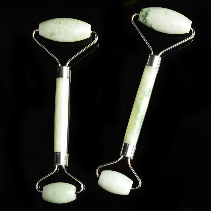 Купить с кэшбэком Natural Jade Roller Double Head Facial Massage Roller Face Slimming Body Head Neck Nature a Device Drop Shipping Face Roller