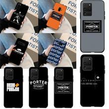 CUTEWANAN Japan Trend head porter Black Soft Shell Phone Case Capa for