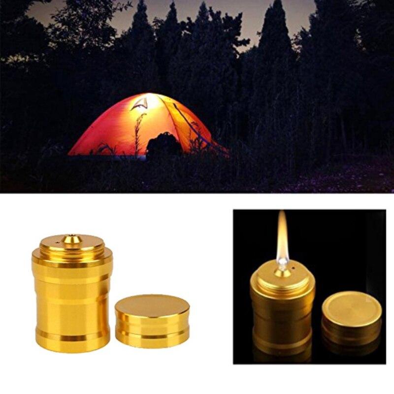 1Pc Portable Mini 10ml Alcohol Lamp Light Aluminum Case Lab Equipment Heating Convenient Durable Outdoor 4.5*2.8cm