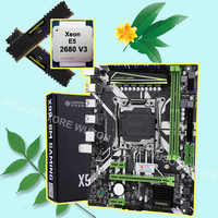 HUANANZHI X99 LGA2011-3 motherboard bundle discount motherboard with M.2 NVMe slot CPU Xeon E5 2680 V3 RAM 32G(2*16G) DDR4 2133