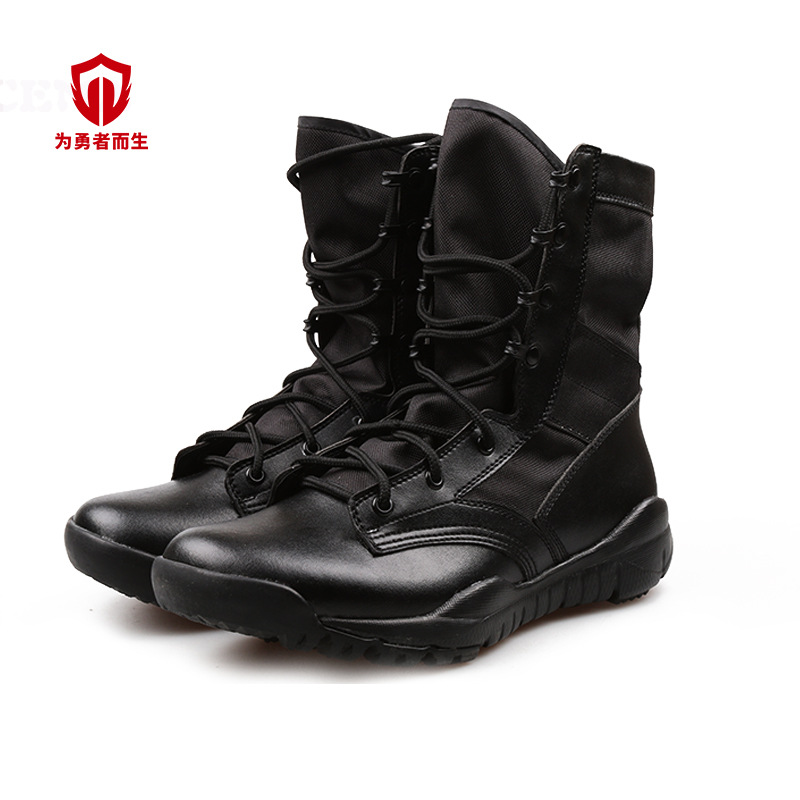 Ultra-Light Combat Boots Outdoor Sports Men's Hight-top Tactical Shoes Breathable Hiking Boots Wear-Resistant Lightweight Curren