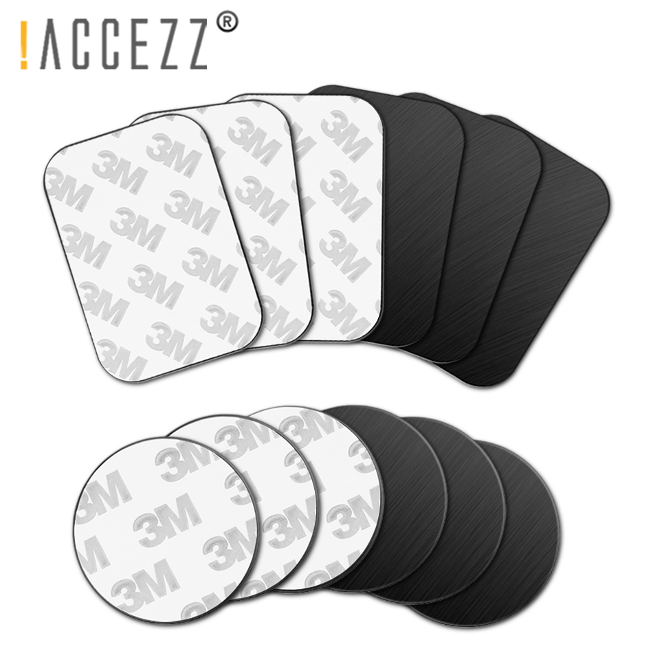 !ACCEZZ 10pcs/lot Metal Plate Disk For Magnetic Mobile Cell Car Phone Holder Universal Magnet Car Stand Mount Iron Sheet Sticker