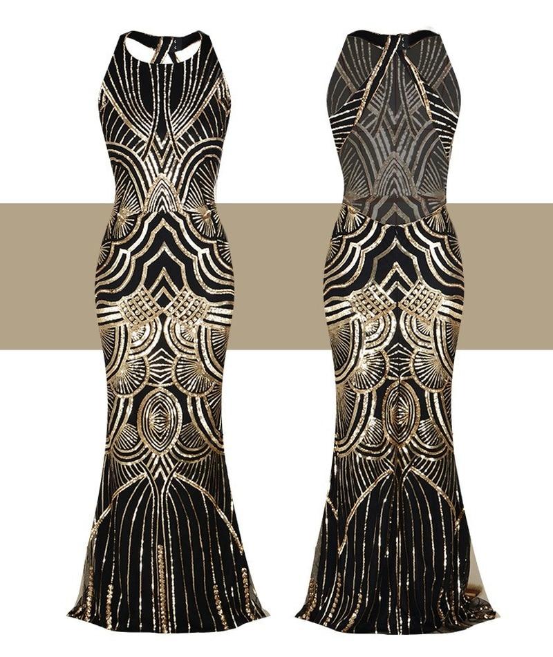 Wanita Tahun 1920 Great Gatsby Gaun Panjang 20 S Flapper Vintage O Leher Tanpa Lengan Backless Maxi Gaun Pesta Untuk Prom Cocktail Gaun Aliexpress