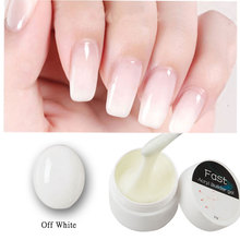 Poly gel Nail Acrylic 25g Milky White Color nail
