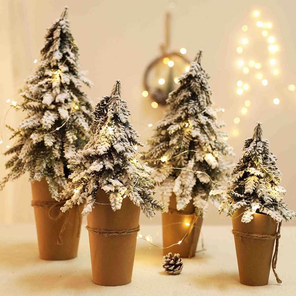 ประดิษฐ์โต๊ะ Mini ตกแต่งต้นคริสต์มาสเทศกาลต้นไม้ขนาดเล็ก 2019 ขายร้อนสนับสนุนขายส่ง Dropshipping