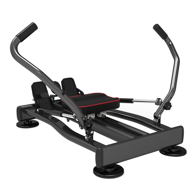 Home Fitness Full Motion Rowing Machine Rower w/ 350 lb Weight Capacity and LCD Monitor