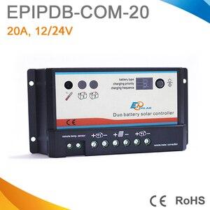 20A daul batteria Solare Regolatore di Carica duo-batteria regolatore di carica 12V 24V solare caricatore del pannello di batteria per RV Barche Golf(China)