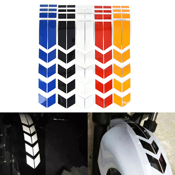 1Pc 15in*5.1in Motorcycle Reflective Stickers Wheel Car Decals On Fender Waterproof Decoration image