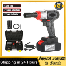 Impact-Wrench Torque Cordless Fast-Charger Quick-Chuck Brushless-Motor Multifunction