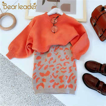 Bear Leader Girls Clothing Sets Autumn Kids Clothes Sweater Skirt Suit Casual Christmas Outfits for Winter Costume