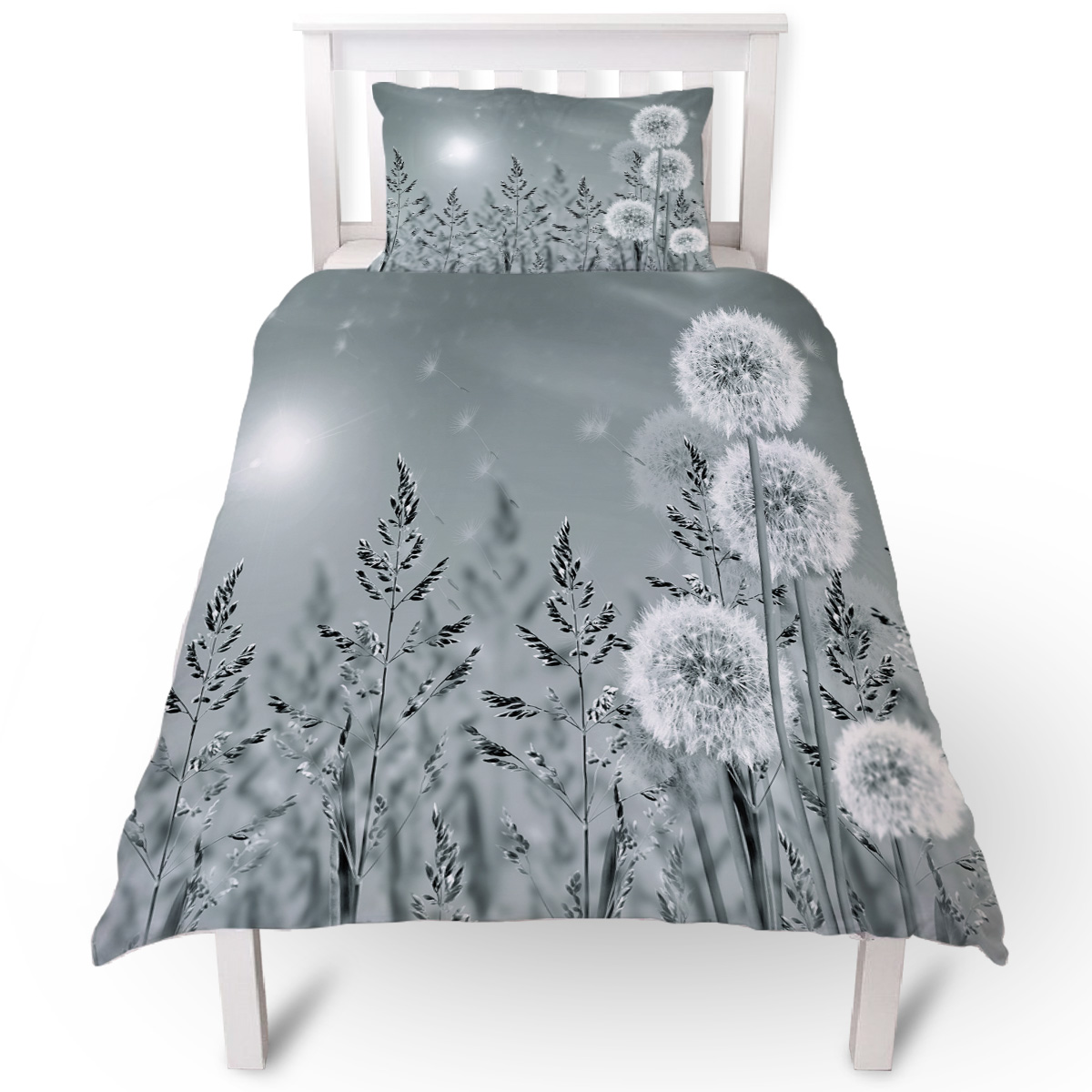 Butterfly Embroidered Floral Quilt Cover Bedding Set Single Duvet Cover Set