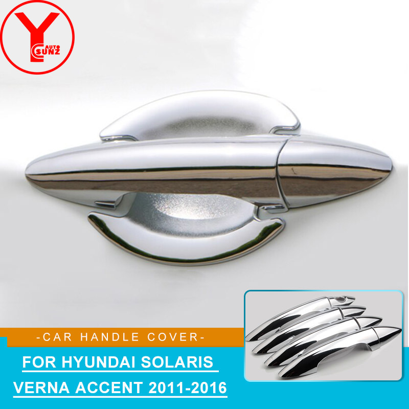 ABS Door Handle Cover Catch Overlay Molding Garnish Bezel Protector For Hyundai Solaris Verna i25 Accent Grand Avega 2010-2016