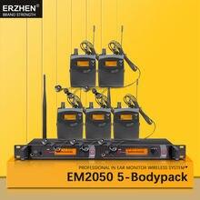 Em2050 в ухо монитор Беспроводная система sr2050 Двойной передатчик