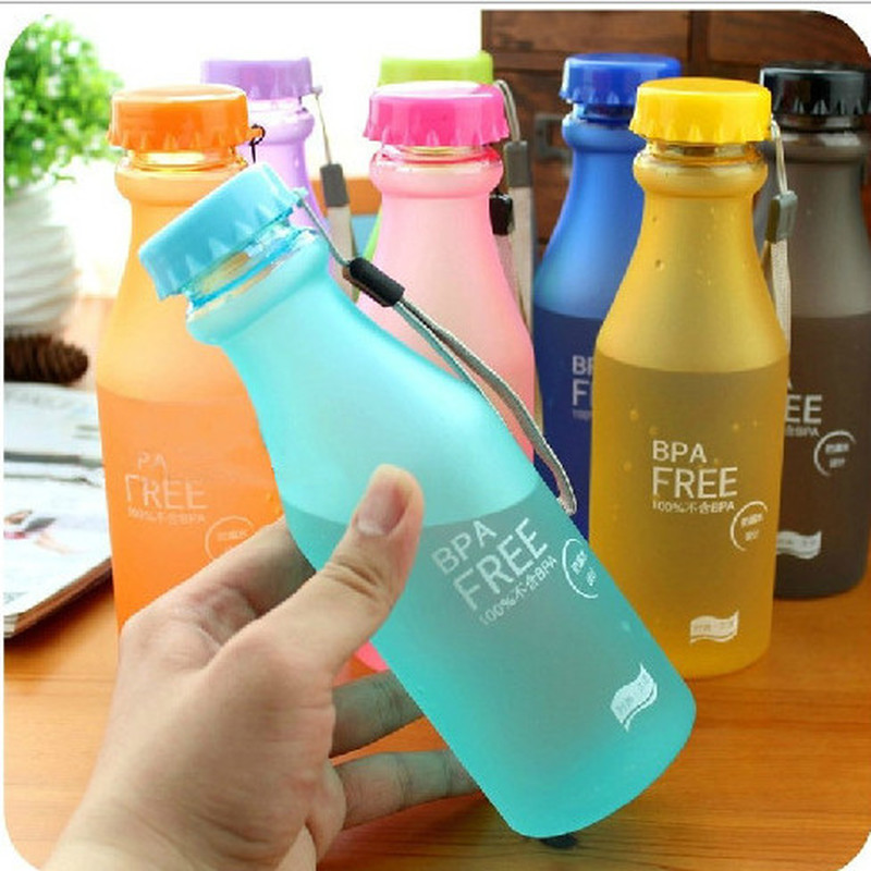 1PC Unbreakable Plastic Outdoor My Bicycle Sports Water Bottles 550ml Portable Leak-Proof Yoga Gym Fitness Drinking Accessories
