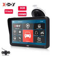 XGODY 9'' Car Truck GPS Navigation 256MB+8GB Touch Screen Sat Nav Bluetooth Optional Free Map Russia Navitel Europe Navigator