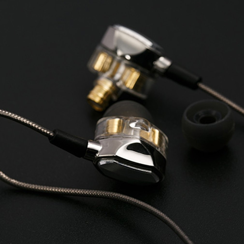 G2 Professional Double Coil Stereo Bass HIFI Earphone Sport Running Anti Noise In Ear Earphone With Microphone in Earphones from Consumer Electronics