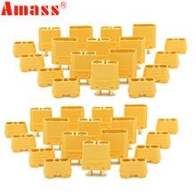 100 pçs/lote amass xt90 xt90h conjunto de conector da bateria 4.5mm macho fêmea banhado a ouro banana plug (50 par)