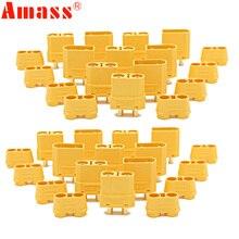 100 pièces/lot Amass XT90 XT90H batterie connecteur ensemble 4.5mm mâle femelle plaqué or banane Plug (50 paire)