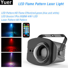 Mini 48 Patterns LED RGBW 4IN1 Laser Projector Light Disco DJ Lights Party Lighting for Stage Decoration with Sound Activated