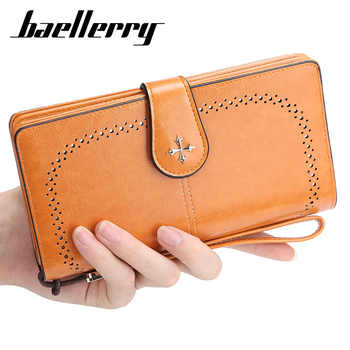 2020 NEW Large Women Wallets Hollow Out Long Wallet Fashion Top Quality PU Leather Card Holder Female Purse Zipper Wallet