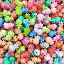 Mixed Color Carved Calla Coral Beads For Jewelry Making Necklace Bracelet Pineapple Shaped Coral Beads Accessories Wholesale недорого