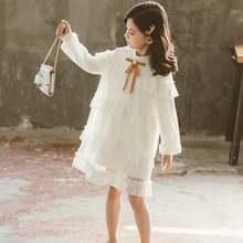 Платье для девочек 2020 весенние кружевные милые платья принцессы