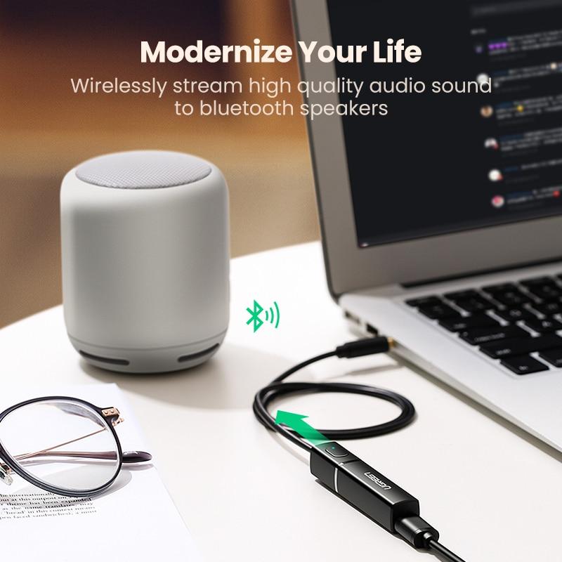 Ugreen Bluetooth Transmitter 5.0 TV Headphone PC PS4 aptX LL 3.5mm Aux SPDIF 3.5 Jack Optical Audio Music Bluetooth 5.0 Adapter 1