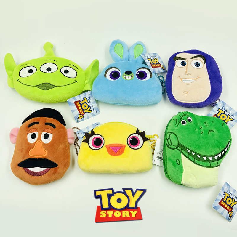 Stuffed Toys Plush Purse Toy Story 4 FORKY Bunny Ducky Aliens Lotso Woody Model Children Gift Buzz Lightyear Coin Purse