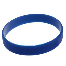 Fashion Silicone Rubber Elasticity Wristband Wrist Band Cuff Bracelet Bangle dark blue(China)