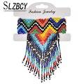 Этнические стильные эластичные браслеты ручной работы с цветными бусинами, богемные браслеты с бусинами и кисточками, очаровательный брас...