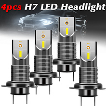2/4pcs H7 LED Headlight 55W/Bulb 5050 CSP Mini Car LED Headlight Kit Canbus Error Free