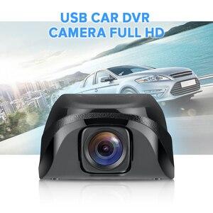 Image 2 - جهاز تسجيل فيديو رقمي للسيارات صغير كاميرا بـ USB داشكام كامل HD مسجل فيديو G الاستشعار للرؤية الليلية كاميرا عدادات السيارة لنظام أندرويد USB DVR