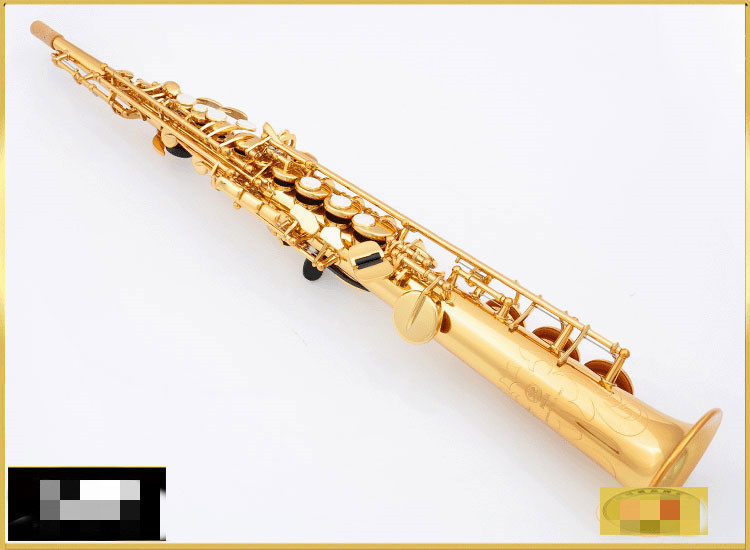 Made in Japan Straight pipe soprano 475 Sax B Flat Brass musical instruments professional-grade with case. Mouthpiece Reed