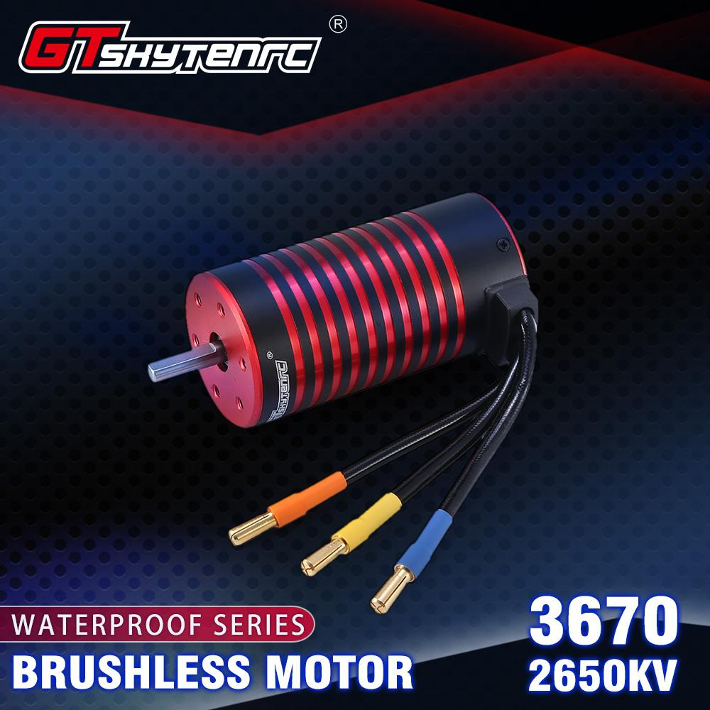 GTSKYTENRC 3670 2050KV/2650KV Brushless <font><b>Motor</b></font> for GTR/Lexus <font><b>2S</b></font> 1:10 3S 4S 1:8 RC Drift Racing Off-road Car Truck Sensorless image