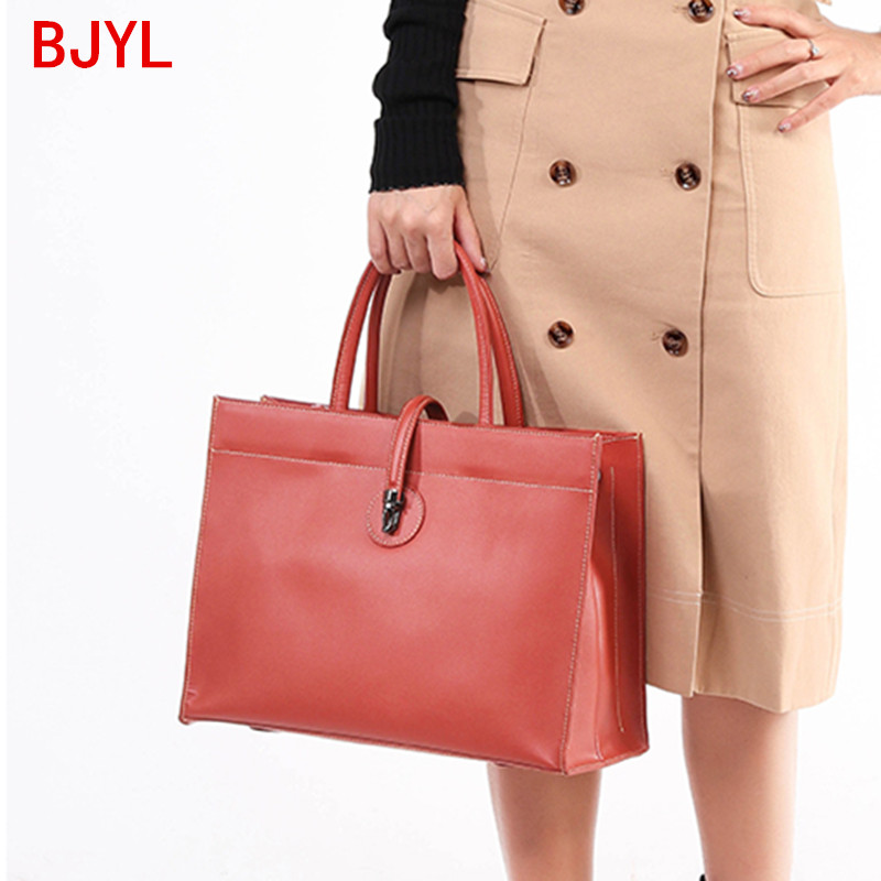 Genuine Leather Bags Women 2020 New Handbags Tote Bags Female Large Capacity Commuter Briefcase Leather Shoulder Messenger Bags