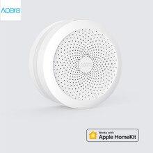محور aqara الأصلي ، بوابة ذكية مع ضوء الليل Led العمل الذكي مع أبل Homekit ، الطبعة الدولية