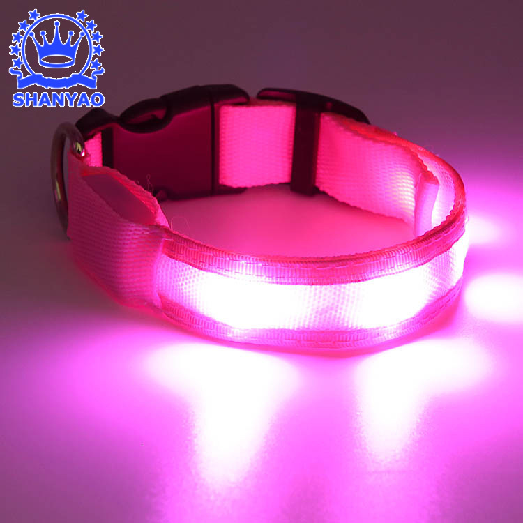 Glowing Pet Collar LED Luminous Collar Night Light Dog Collar Pet Supplies Dongguan